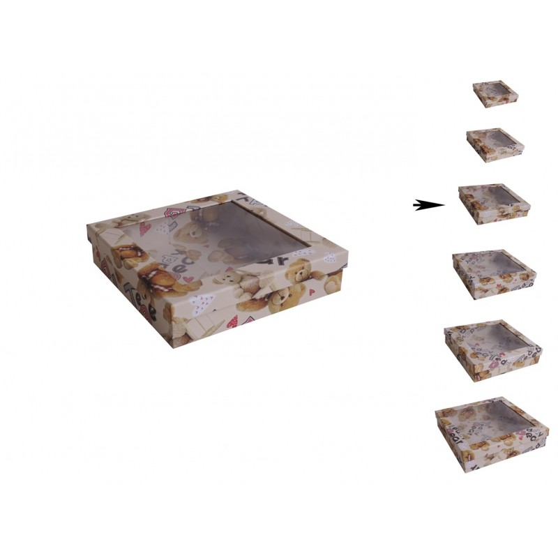 Cajita Transparente Osito ↕5,5 x ↔23