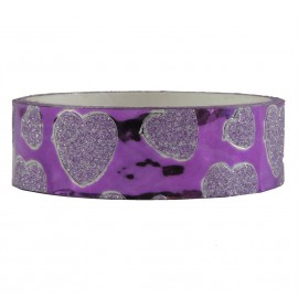 Tape Brillo Corazon Morado ↕ 1,5 cm