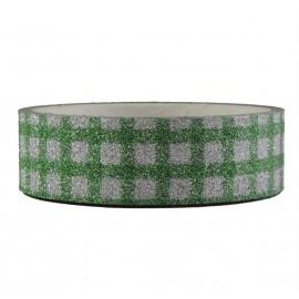 Tape Brillo Cuadro Verde ↕ 1,5 cm