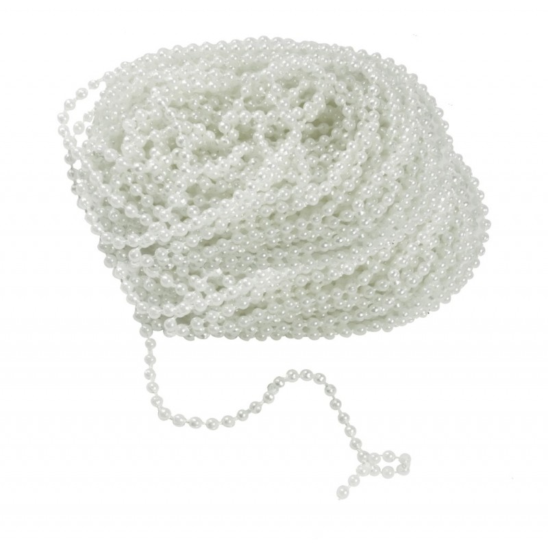 Guirnalda Perlas 3mm Blanco (10 mts)