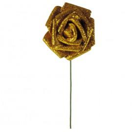 Rosa Brillo Purpurina Ø 6cm Oro