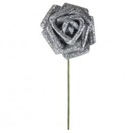 Rosa Brillo Purpurina Ø 6cm Plata
