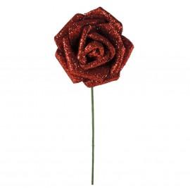 Rosa Brillo Purpurina Ø 6cm Rojo