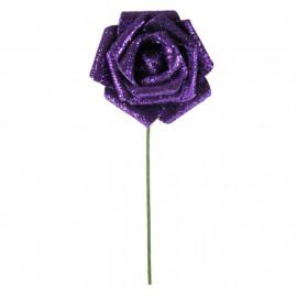Rosa Brillo Purpurina Ø 6cm Morado