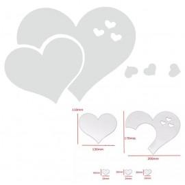 Espejo Acrílico Corazón Normal Adhesivo