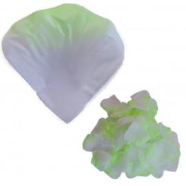 Petalo Rosa Artificial Blanco Verde (100ud)