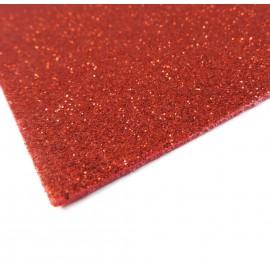 Goma Eva Brillo 40x60 cm Rojo