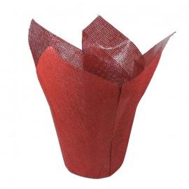 Cubre Maceta Yute Rojo Ø 16cm