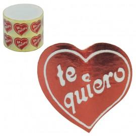 """Etiqueta Corazon """"Te Quiero"""" 1000 ud"""