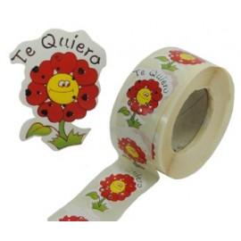 """Etiqueta Corazones """"Te Quiero"""" 500 ud"""