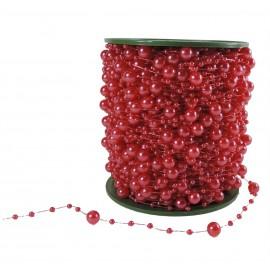 Guirnalda Perlas Roja 60mts 8/3mm