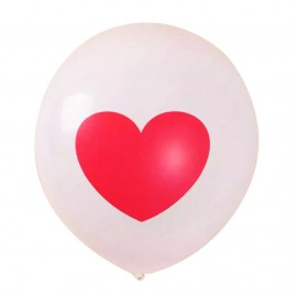 lobo Blanco Corazon Rojo Latex 12'' (10 uds)