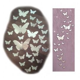 Espejo Acrílico Mariposas (25 piezas)