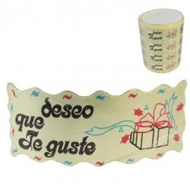 "Etiqueta ""Deseo Que te Guste"" Oro 1000ud"