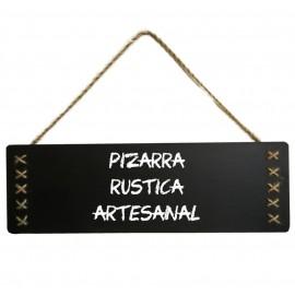 Pizarra Artesanal Cuerda Colgante 50x20