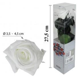 Rosa con Tallo Mini Blanca ↕27,5 cm