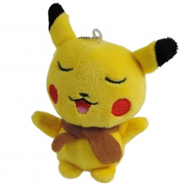 Pikachu Dormido Peluche Llavero