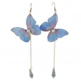 Pendientes Mariposa Azul Largo ↕ 10.5 cm (par)