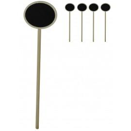 Mini Pizarra Madera Oval (4 ud)