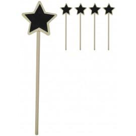 Mini Pizarra Madera Estrella (4 ud)