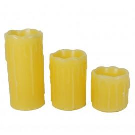 Velas Led Pack 3 Tamaños c/Pilas