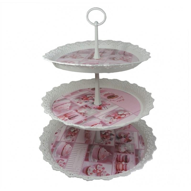 5630a87b1be Bandeja 3 Pisos Cupcakes ↕ 38cm