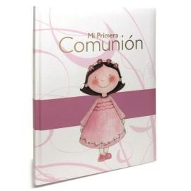 Libro Firmas Comunion Rosa Raya