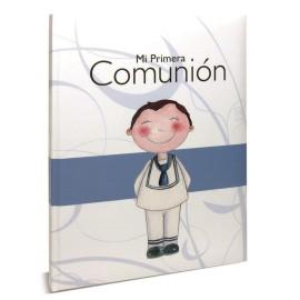 Libro Firmas Comunion Azul Raya