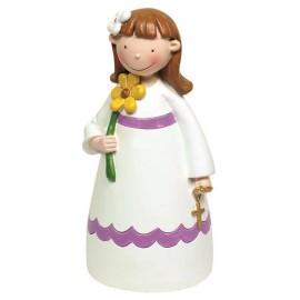 Niña Comunion Flor 15cm