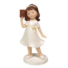 Niña Vestido con Biblia 16cm