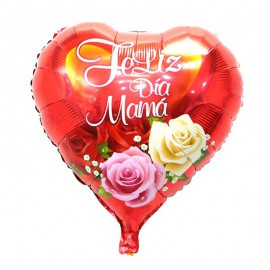 """Globo """"Feliz Dia Mama"""" Rojo 18'' Foil"""