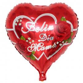 "Globo ""Feliz Dia Mama"" Rosas 18'' Foil"