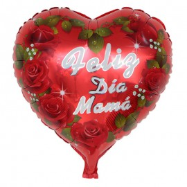"Globo ""Feliz Dia Mama"" Hojas 18'' Foil"