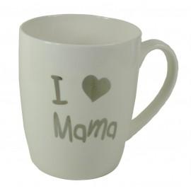 """Tazón """"I ♥ Mama"""" Plata ↕10,5 cm"""