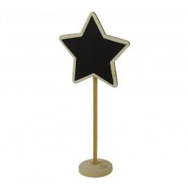 Pizarra Estrella Madera con Soporte ↕18cm