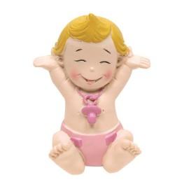 Bebe Sentado Iman Rosa (6ud)