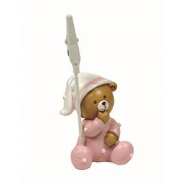 Bebe Osito Pijama Rosa Clip ↕ 6 cm