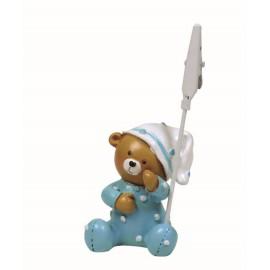 Bebe Osito Pijama Azul Clip ↕ 6 cm