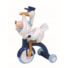 Cigueña Bebe Triciclo Azul ↕ 15 cm