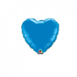 Globo Foil Corazon Azul Safiro 4''
