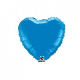 Globo Foil Corazon Azul Safiro 9''