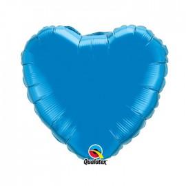 Globo Foil Corazon Azul Safiro 18''