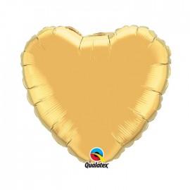 Globo Foil Corazon Oro Metalico 18''