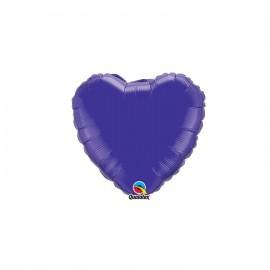 Globo Foil Corazon Cuarzo Purpura 4''