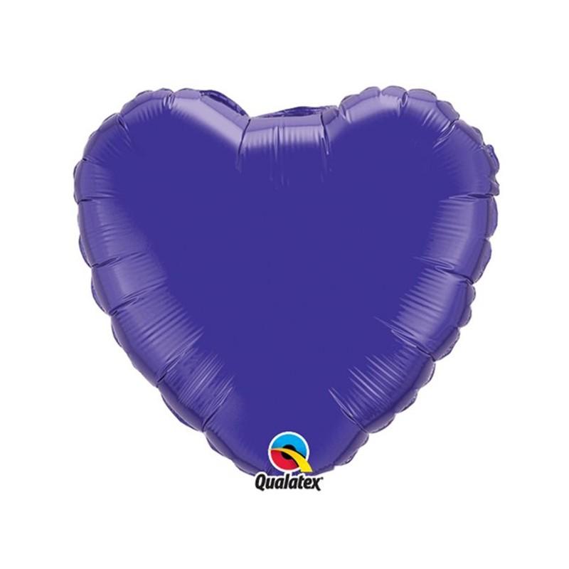 Globo Foil Corazon Cuarzo Purpura 18''