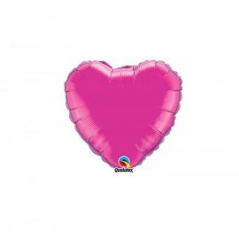 Globo Foil Corazon Magenta 4''