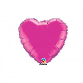 Globo Foil Corazon Magenta 9''