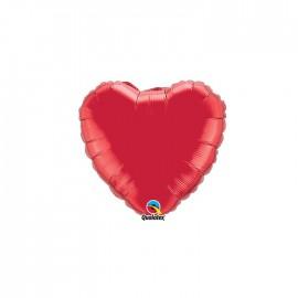 Globo Foil Corazon Rojo Rubi 4''