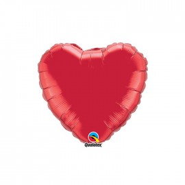 Globo Foil Corazon Rojo Rubi 9''