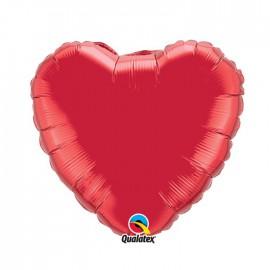 Globo Foil Corazon Rojo Rubi 18''